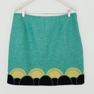 BODEN Felted Wool Applique Sun/Moon Mini Skirt 12
